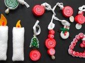 Set di 10 decorazioni in feltro