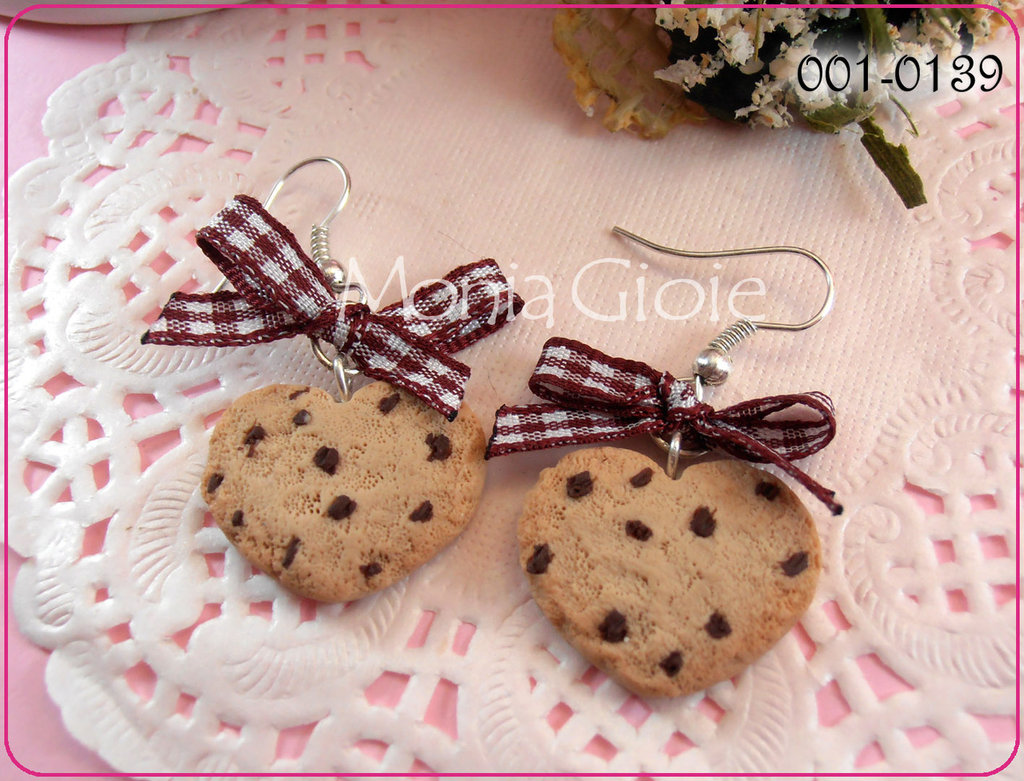 Orecchini cuori biscottosi