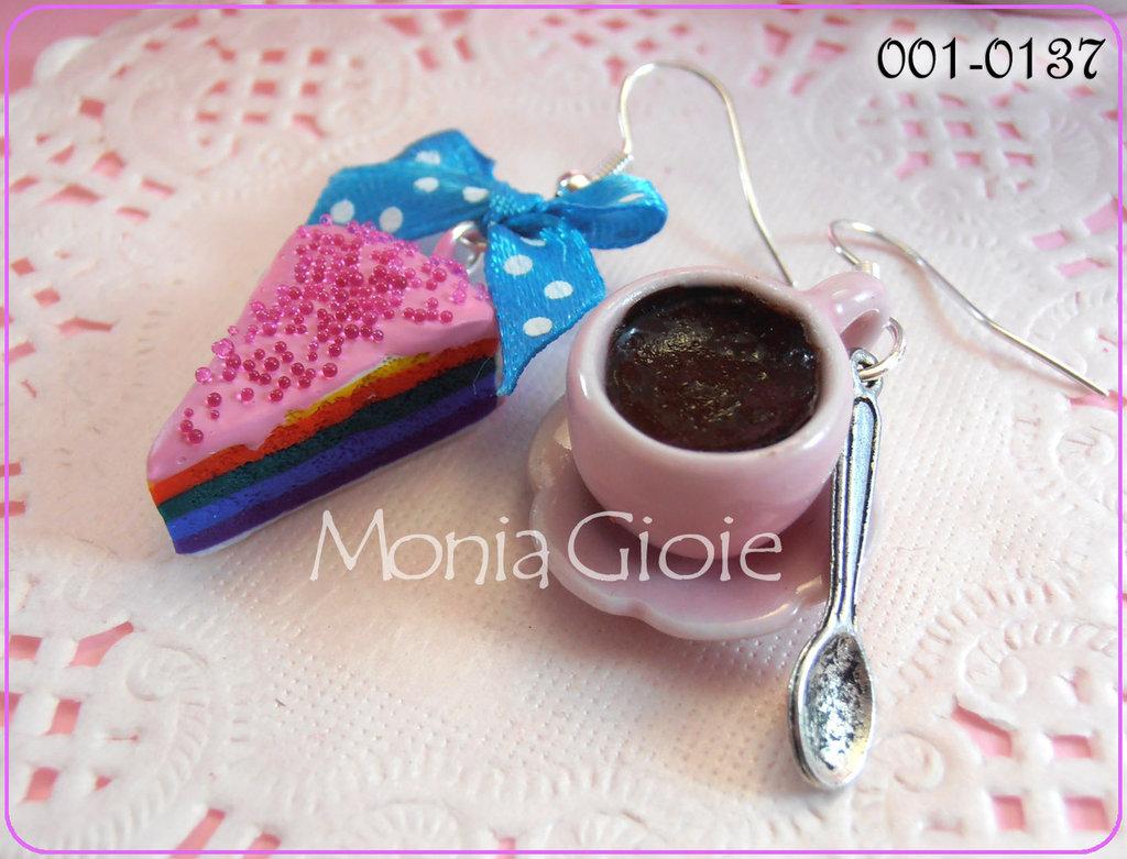 Orecchini torta e cioccolato