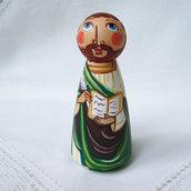 San Luca Evangelista Patrono cristiano bambola