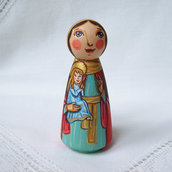 Santa Anna madre di Maria Vergine Patrona bambola