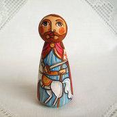 San Giacomo il Maggiore apostolo bambola figurina