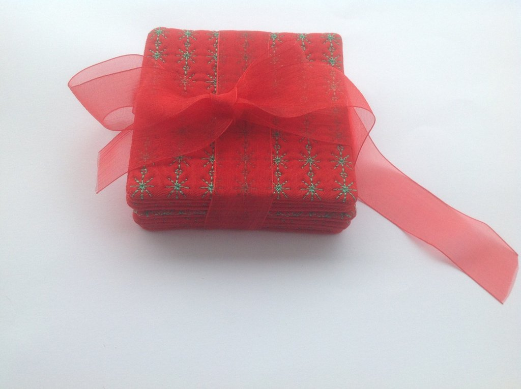 Sottobicchieri: set da 5 pezzi - Idea regalo Natale.