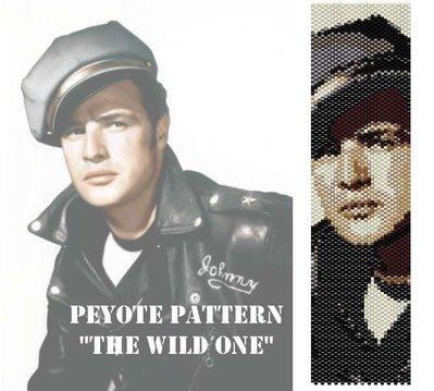 """Schema peyote per bracciale """"Marlon Brando - Il selvaggio"""""""