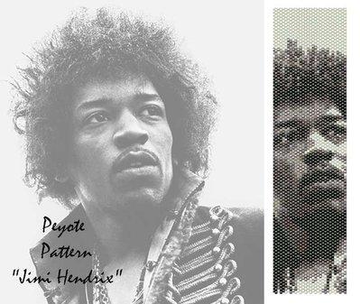 """Schema peyote per bracciale """"Jimi Hendrix"""""""