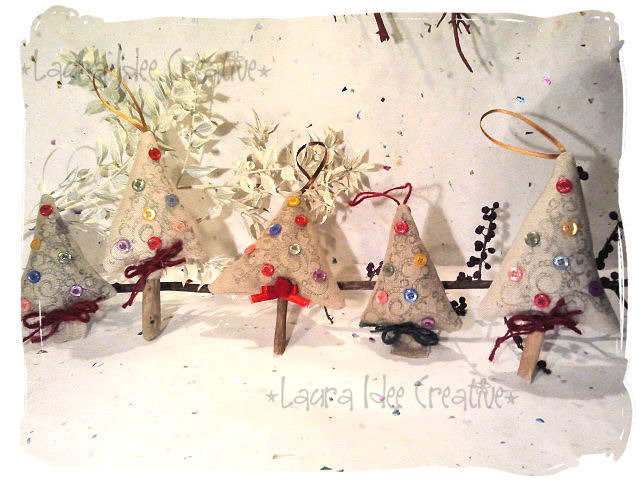 Alberi di Natale in stoffa
