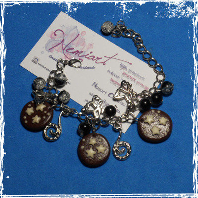 Bracciale Pandistelle in fimo charms e perline