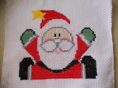 Ricamo Babbo Natale punto croce