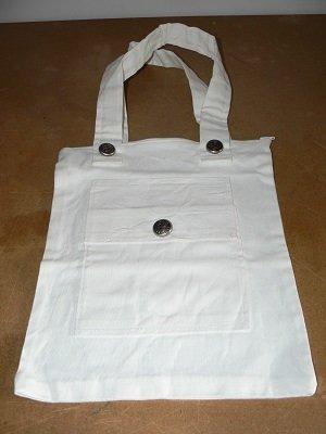 Borsa in tessuto, colore bianca.