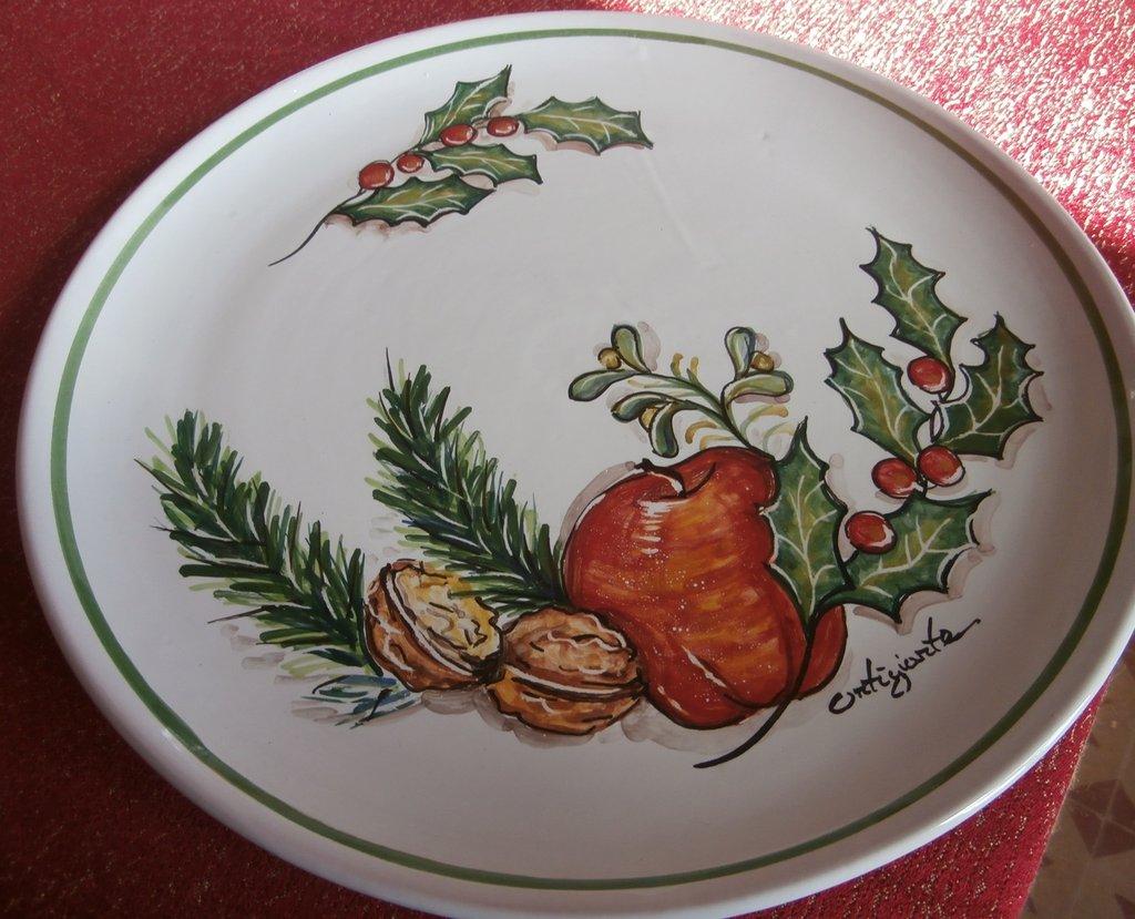 Piatto torta natalizio per la casa e per te cucina for Decorazioni piatti da cucina