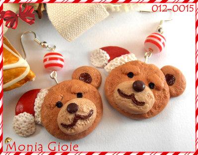Orecchini orsetti di Natale