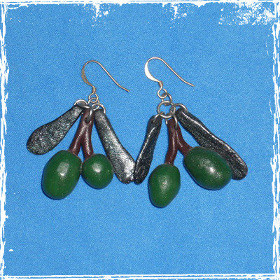 Orecchini Olive in fimo con monachella anallergica