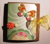 Idea Regalo 8! Mini Album Post-it PortaAppunti - Garden Notes in Scrap^^