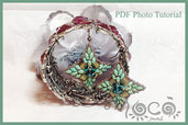 Pdf pattern,photo tutorial,diy,earrings