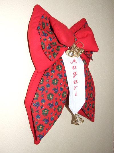 Fiocco strenna natalizio rosso