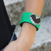 Bracciale in feltro With Love