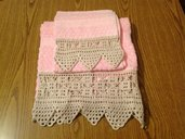 Coppia Asciugamani Rosa