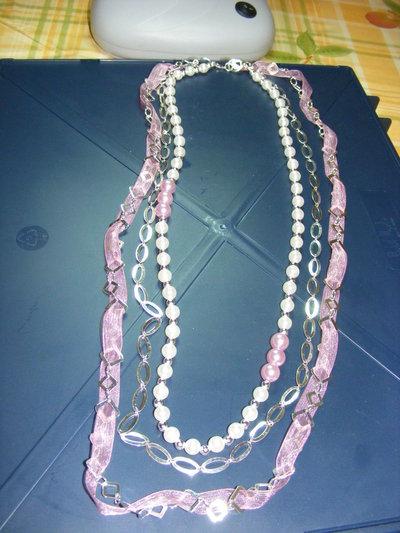collana lunga a tre fili