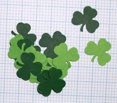 Trifoglio, foglioline - Mini Fustellati, Coriandoli^^ Lotto (50pz) - Scrapbooking&Cardmaking