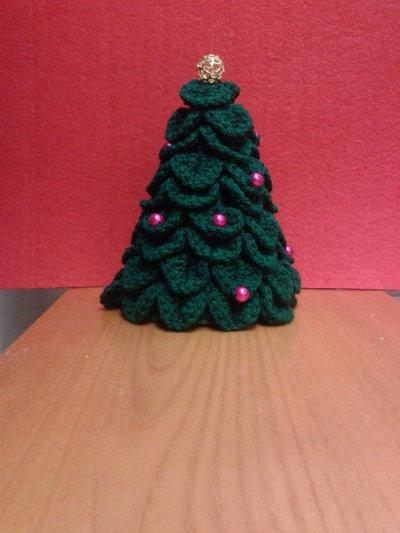 Albero di Natale uncinetto in lana