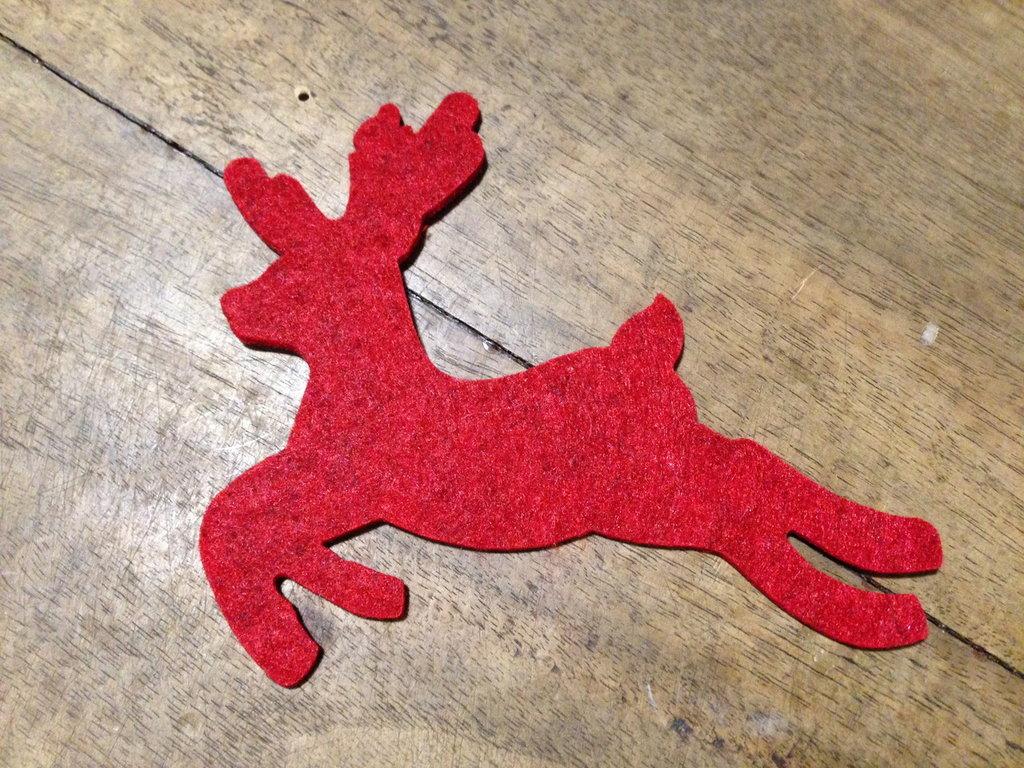 Alce - decorazione in feltro per Natale