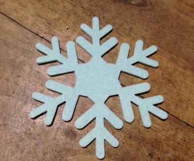 Fiocchi di neve in feltro - decorazione per Natale