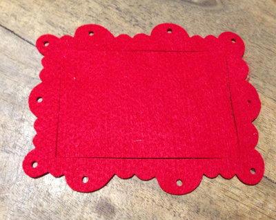 Cornice rettangolare frame scallop ornate in pannolenci