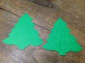 Albero di Natale in cartoncino fustellato