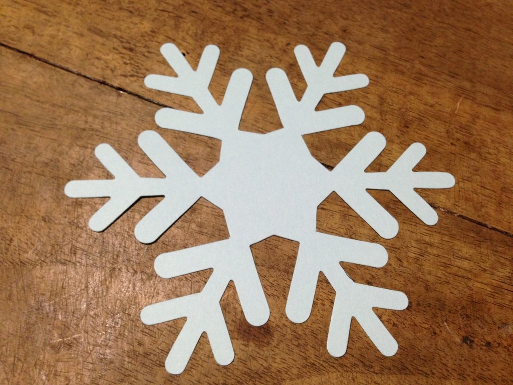 Fiocchi di neve maxi in cartoncino