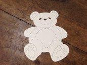 Orso Teddy in cartoncino fustellato