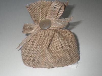 Bomboniera sacchetto iuta