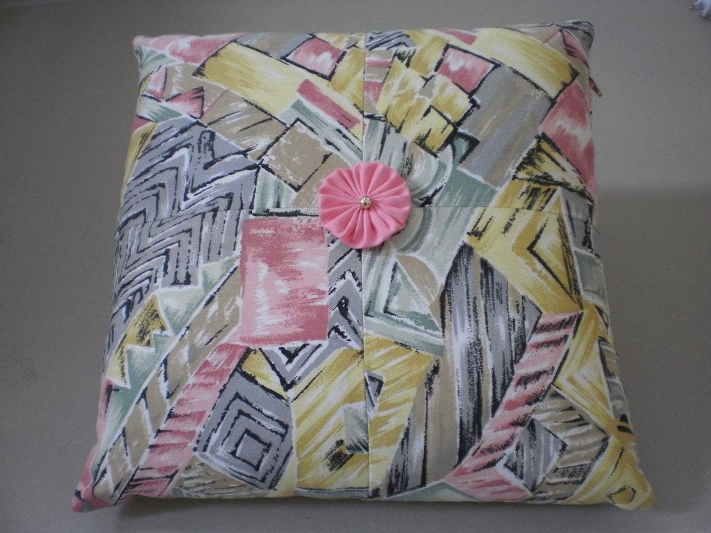 cuscino colorato patchwork