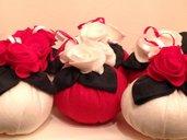 Pallina con rose di panno