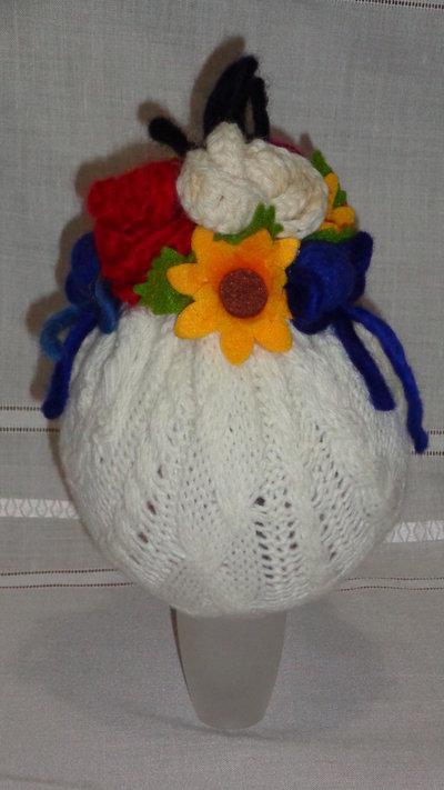 palla di natale rivestita in lana