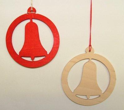 Decorazione natalizia tonda piccola colore rosso