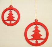 Decorazione natalizia tonda grande colore rosso