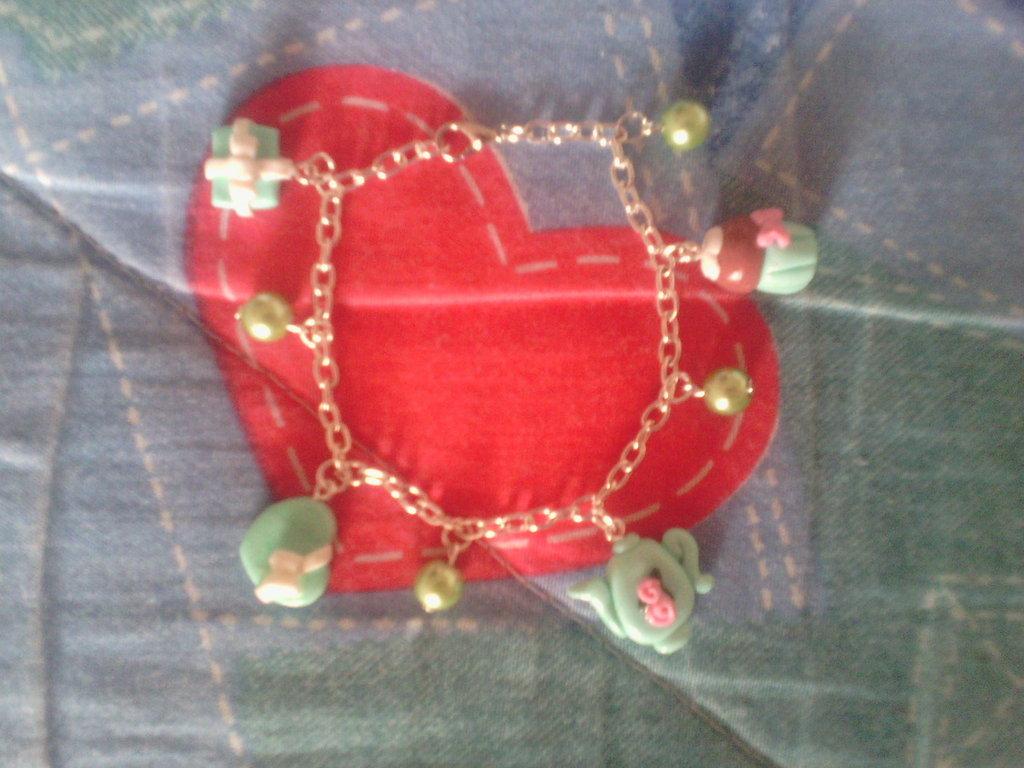 Bracciale fimo kawaii - charms ciondoli bracciali orecchini collane portachiavi