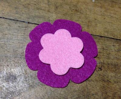 Fiore #5 in pannolenci