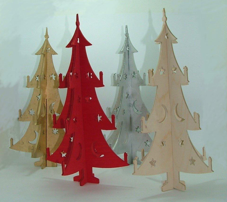 Albero candeline legno naturale