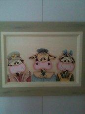Tre simpatiche mucche