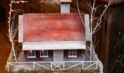 casa in legno completa di camino brucia incensi