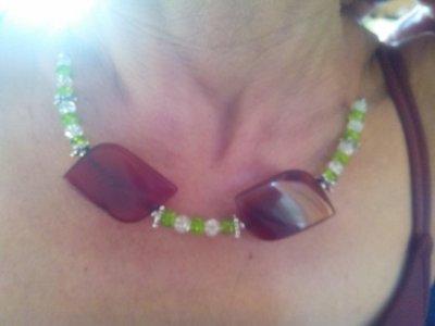 Collana perline  e pietre naturali