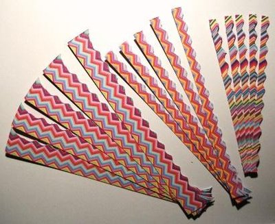 Bordure in cartoncino CrazyColours^^ - Lotto Fantasia Arcobaleno (15pz) - Scrapbooking & Cardmaking