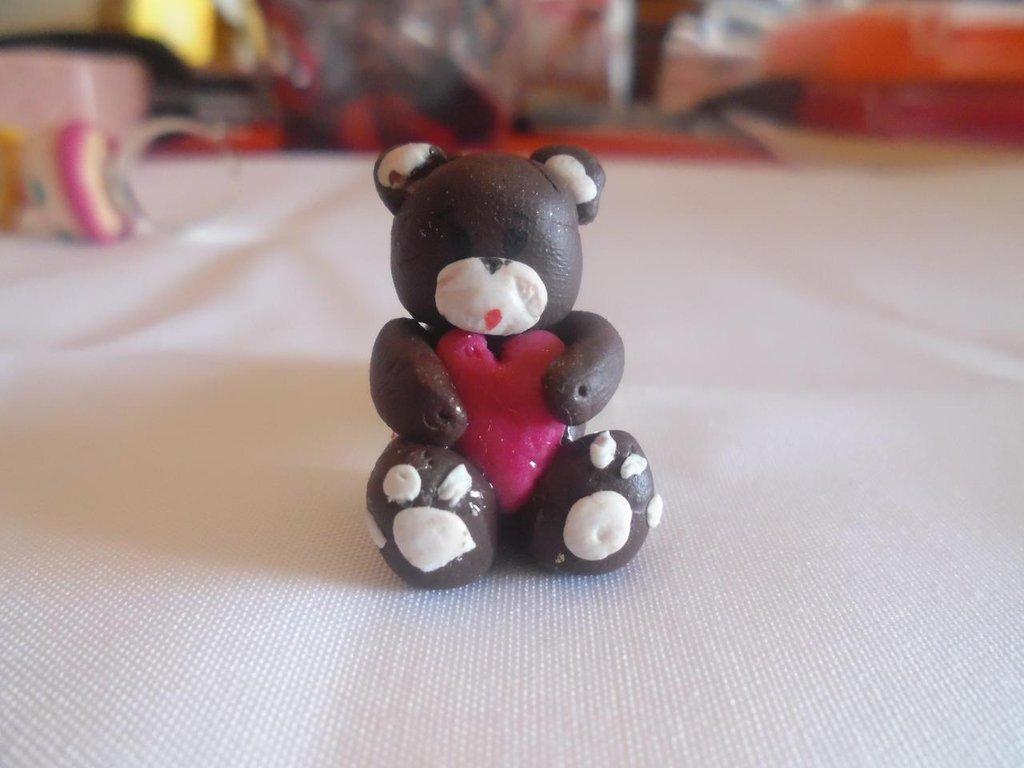 anello con orsetto e cuore