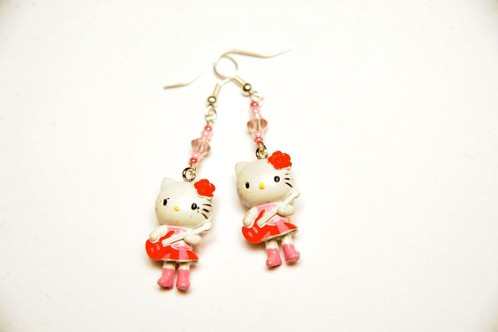 orecchini Hello Kitty rock