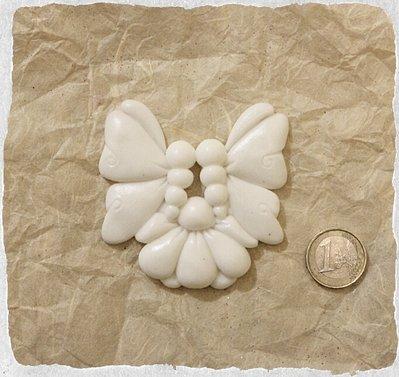 Coppia Farfalle con Fiore in resina