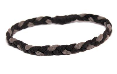 """fascia """"hippy"""" nero e grigio"""