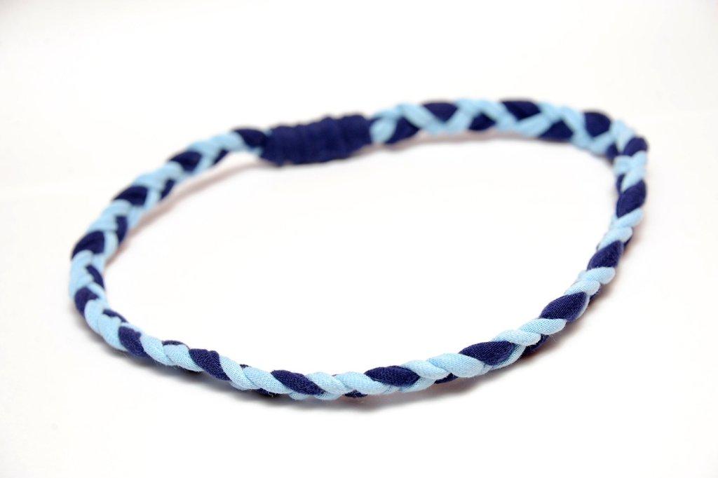 """fascia """"hippy"""" blu e azzurro"""