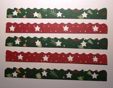 Bordure in cartoncino Merry Christmas^^ - Lotto Natale (5pz) - Scrapbooking & Cardmaking