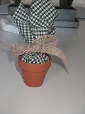 Bomboniera sacchetto  in vasetto terracotta